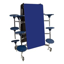 Mobile Stool Cafeteria Table w/ Particleboard Core - Folded