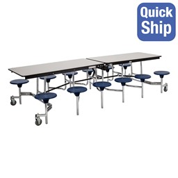 Mobile Stool Cafeteria Table w/ Particleboard Core
