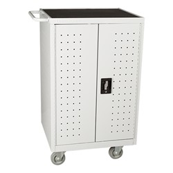 Structure Series 24-Outlet Tablet Assembled Charging Cart - Gray