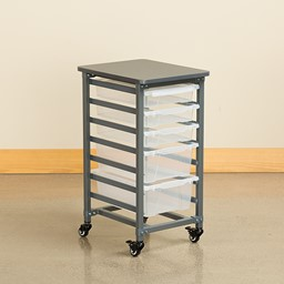 Structure Series Single-Wide Mobile Classroom Storage Cart