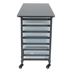 Structure Series Triple-Wide Mobile Classroom Storage Cart