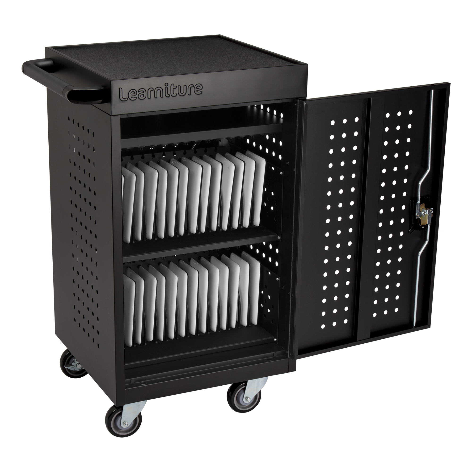 Learniture's 30-Bay Tablet Charging Cart