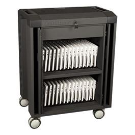 Chromebook Compatible Storage & Charging Cart - 30 Capacity - Shown w/ Chromebooks