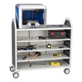 Profile Series Mobile Storage Cart w/ Adjustable Shelves