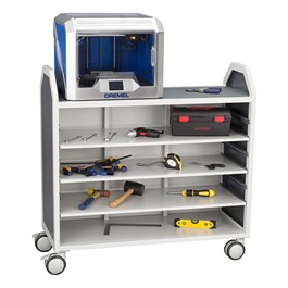 "Profile Series Mobile Storage Cart w/ Adjustable Shelves (42\"" W x 35 1/2\"" H)"