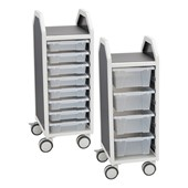 Tote Tray Storage Carts