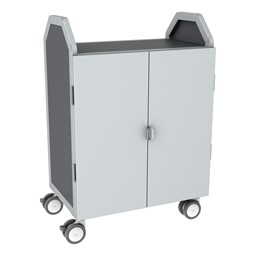 Profile Series Double-Wide Mobile Classroom Storage Cart w/ Doors