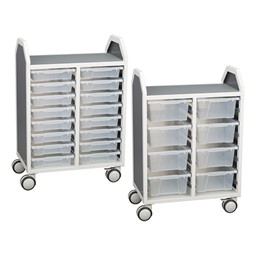 Profile Series Double-Wide Mobile Classroom Storage Cart