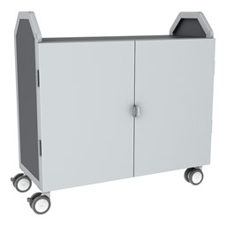 Profile Series Triple-Wide Mobile Classroom Storage Tower w/ Doors