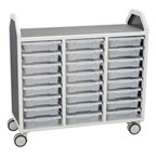 "Profile Series Triple-Wide Mobile Classroom Storage Cart w/ 24 Small Bins (42"" W x 35 1/2"" H)"