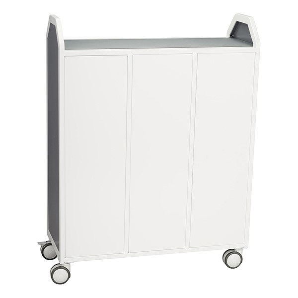 """Profile Series Triple-Wide Mobile Classroom Storage Tower (42"""" W x 49 1/2"""" H) - Back"""