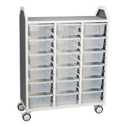 """Profile Series Triple-Wide Mobile Classroom Storage Tower (42"""" W x 49 1/2"""" H) - Front"""