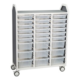 "Profile Series Triple-Wide Mobile Classroom Storage Tower w/ 18 Small & 9 Large Bins (42"" W x 49 1/2\"" H)"