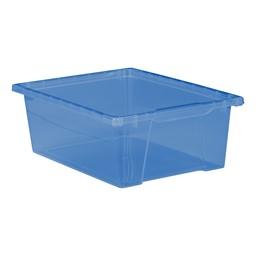 "6"" Translucent Bin - Brilliant Blue"