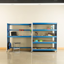 "Creation Station Set - One Tall Workbench (60"" L x 30\"" D x 70\"" H) & One Shelving Unit (60\"" L x 30\"" D x 70\"" H) - Bins sold separately (accessories not included)"