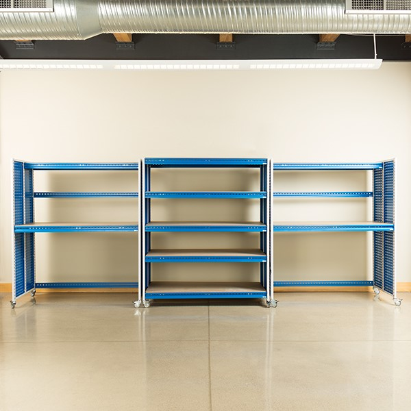 """Creation Station Set - Two Tall Workbenches (60"""" L x 30"""" D x 70"""" H) & One Shelving Unit (60"""" L x 30"""" D x 70"""" H)"""