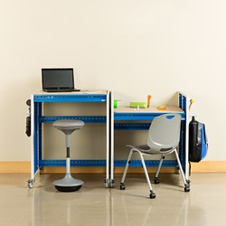 """Creation Station Set - Two Workbenches (30"""" W x 36"""" D x 36"""" H) - Seating & accessories not included"""