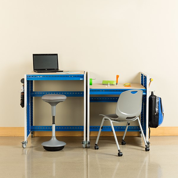 "Creation Station Set - Two Workbenches (30"" W x 36"" D x 36"" H) - Seating & accessories not included"