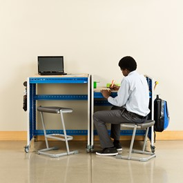 """Creation Station Set - Two Workbenches (30\"""" L x 36\"""" D x 36\"""" H) - Stools & accessories not included"""