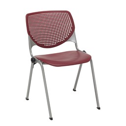 Energy Series Perforated Back Stack Chair w/ out Arms - Burgundy