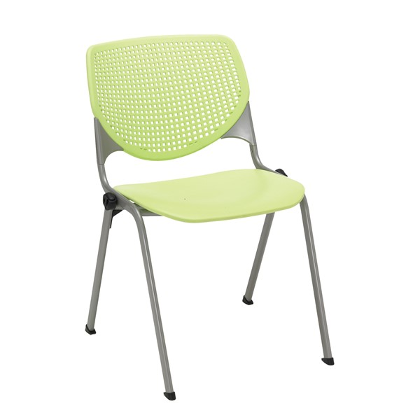 Energy Series Perforated Back Stack Chair w/ out Arms - Lime Green