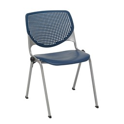 Energy Series Perforated Back Stack Chair w/ out Arms - Navy