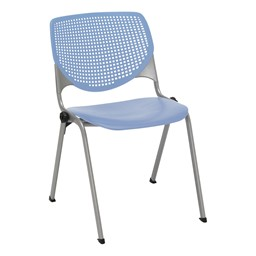 Energy Series Perforated Back Stack Chair w/ out Arms - Periwinkle