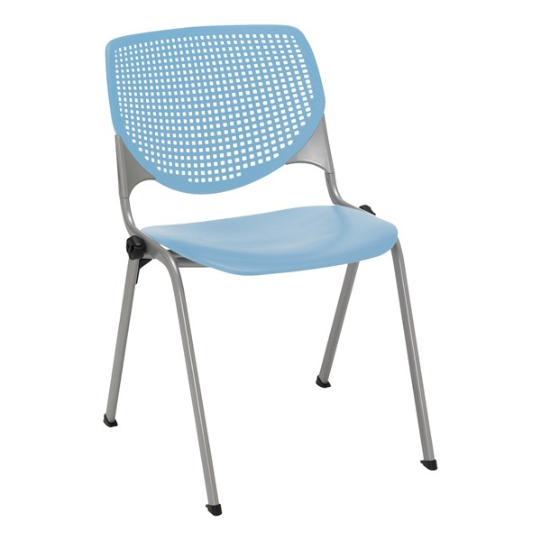 Energy Series Perforated Back Stack Chair w/ out Arms - Sky Blue