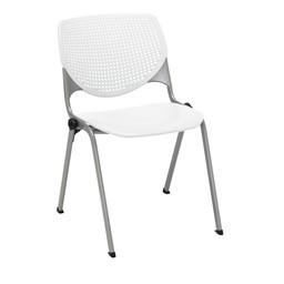 Energy Series Perforated Back Stack Chair w/o Arms - White