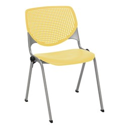 Energy Series Perforated Back Stack Chair w/ out Arms - Yellow
