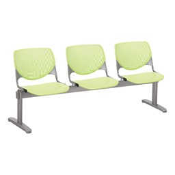Energy Series Perforated Back Beam Seating w/ Three Seats - Lime Green