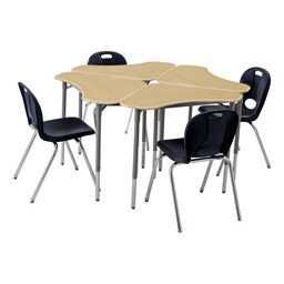 Boomerang Collaborative Desk w/o Wire Box - Group - Chairs not included