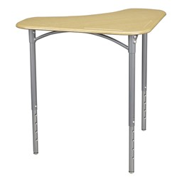 "Boomerang Collaborative Desk w/o Wire Box & 18"" Shape Series School Chair Set – 24 Desks/Chairs - Desk - Sugar maple"
