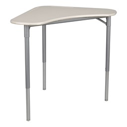 "Boomerang Collaborative Desk w/o Wire Box & 18"" Shape Series School Chair Set – 24 Desks/Chairs - Desk - Gray spectrum"