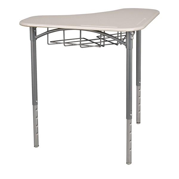 Boomerang Collaborative Desk w/ Wire Box - Gray Spectrum