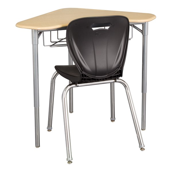 Boomerang Collaborative Desk w/ Wire Box - Chair not included