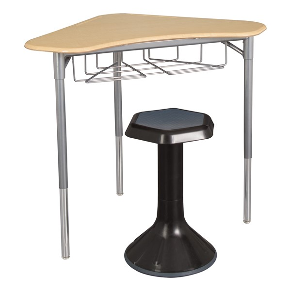 Boomerang Collaborative Desk w/ Wire Box - Stool not included