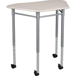 Hex Collaborative Desk - Pencil groove