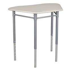 "Hex Collaborative Desk w/o Wire Box & 18"" Active Learning Stool Set - Desk"