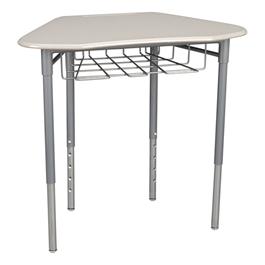 Hex Collaborative Desk w/ Wire Box