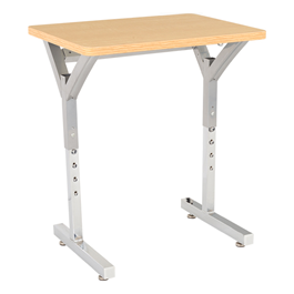 Adjustable-Height Y-Frame Desk