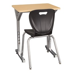 Adjustable-Height Y-Frame Desk - Chair not included