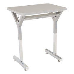 "Adjustable-Height Y-Frame Desk & 18"" Shapes Series School Chair Set – 16 Desks/Chairs - Desk"