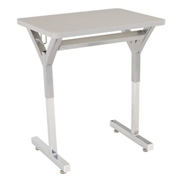 "Adjustable-Height Y-Frame Desk & 18"" Shapes Series School Chair Set – Four Desks/Chairs - Desk"