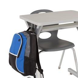 Adjustable-Height Y-Frame Desk - Backpack hook