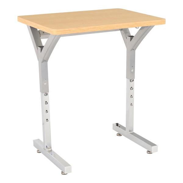Adjustable-Height Y-Frame Desk - Sugar Maple