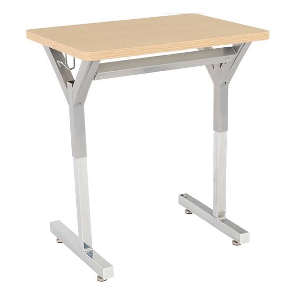 Adjustable-Height Y-Frame Desk and 18-Inch Profile Series School Chair Set - Desk - Sugar Maple