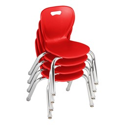 Shapes Series School Chair - Red - Stacked