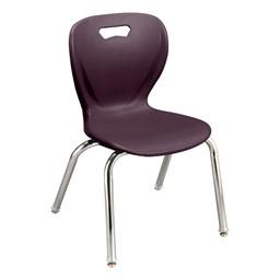 Shape Series School Chair - Eggplant