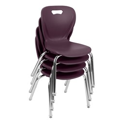 Shapes Series School Chair - Eggplant - Stacked
